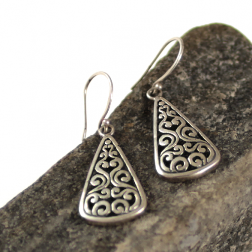 Byzantine drop style earrings