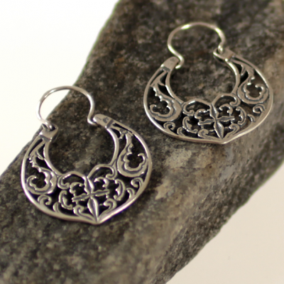 Byzantine peackock earrings