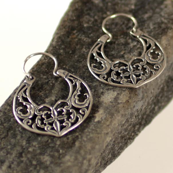 Byzantine Peackock Earrings silver G418