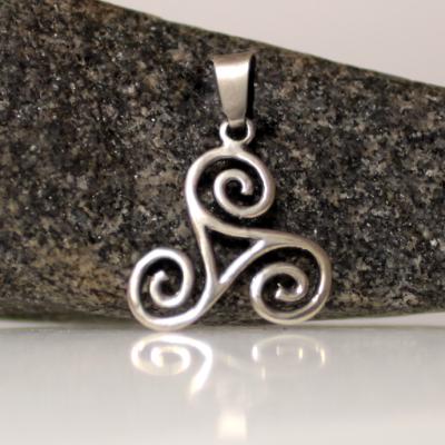 Silver celcit pendant