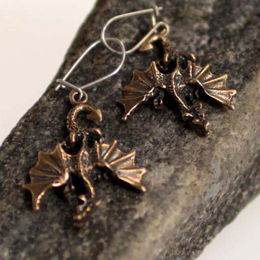 Dragon shaped earrings