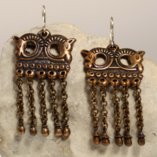Bronze horse earings