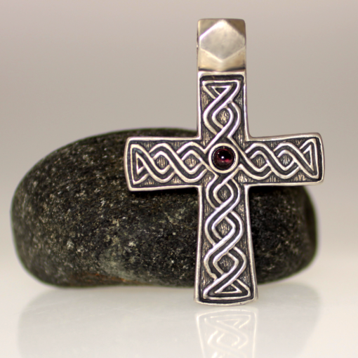 Russian garnet gross made of sterling silver