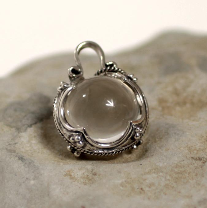 Gotland crystal ball pendant silver nes crystal ball pendant aloadofball Image collections