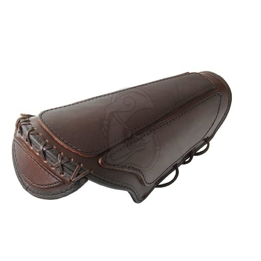 A sturdy combat bracer with elbow protection.