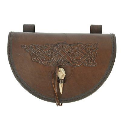 A big semicircular viking style satchel.