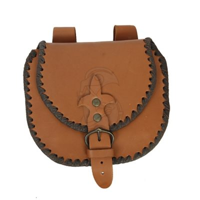 A simple medieval satchel. Made of plant tanned leather.