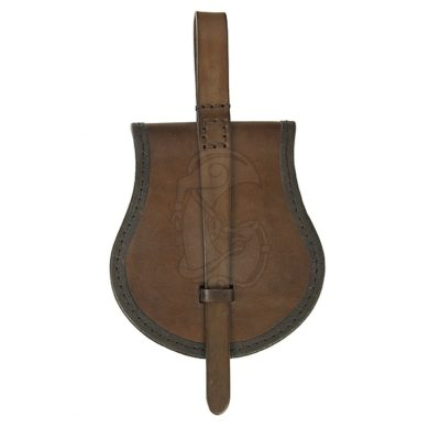 A leather satchel inspired by the findings from Birka, Sweden.