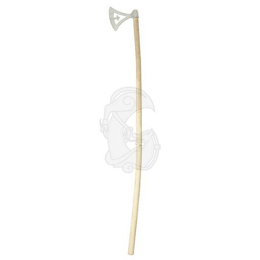 An openwork dane axe with a decorative cross.