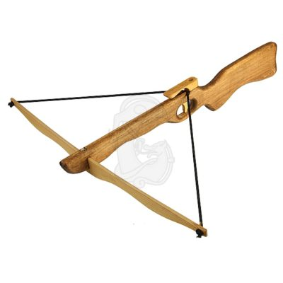 A big wooden toy crossbow for children
