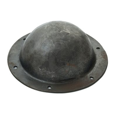A small, steel shield boss used as a central point of the viking shield.